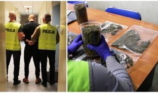 Sprawna akcja policji w Łowiczu. Zatrzymano 25-latka i zabezpieczono ponad kilogram narkotyków